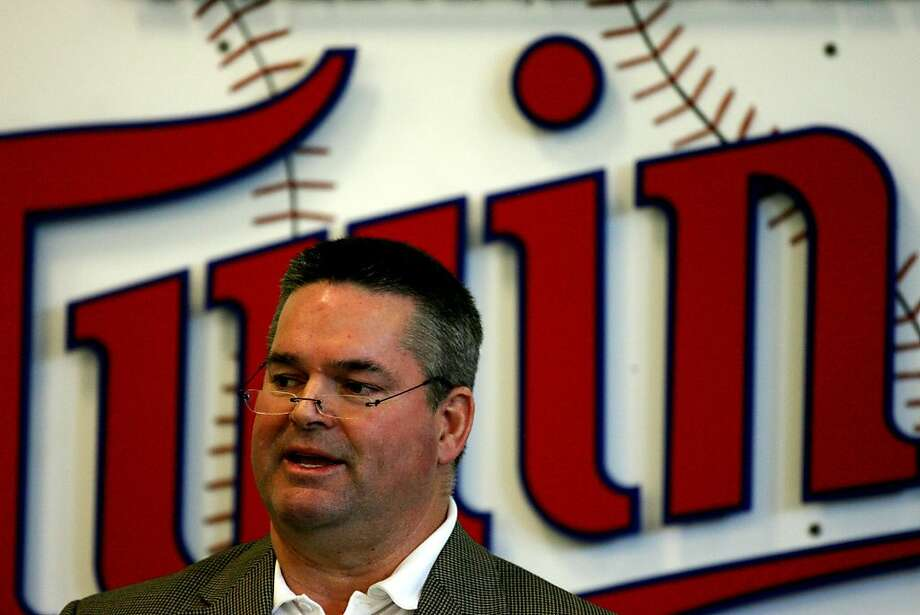 This Feb. 23, 2009 file photo shows Minesota Twins general manager Bill Smith during a news conference in Fort Myers, Fla. The Minnesota Twins have fired general manager Bill Smith and returned Terry Ryan to the role on an interim basis.  The change was announced Monday, Nov. 7, 2011. (AP Photo/The Star Tribune, Jerry Holt) PIONEER PRESS OUT MINNEAPOLIS-AREA TV OUT MAGS OUT Photo: Jerry Holt, AP