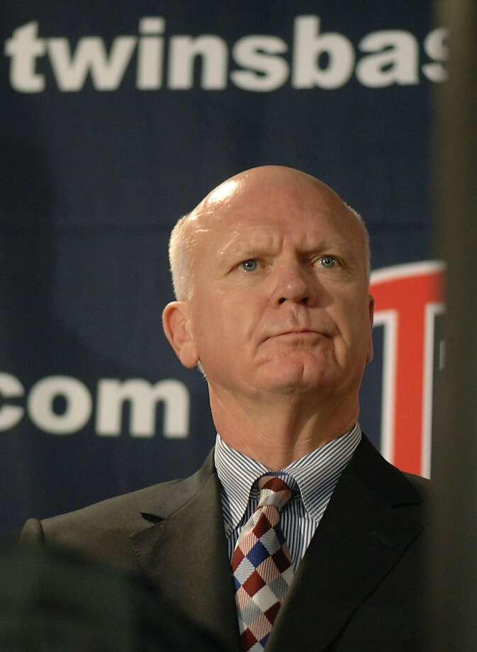 FILE - In this Sept. 13, 2007 file photo, Minnesota Twins general manager Terry Ryan announces his resignation during a news conference in Minneapolis. The Twins have fired general manager Bill Smith and returned Terry Ryan to the role on an interim basis. The change was announced Monday, Nov. 7, 2011.  (AP Photo/Janet Hostetter, File)  Ran on: 11-08-2011 Former Minnesota general manager Terry Ryan is returning to the position on an interim basis. Ran on: 11-08-2011 Former Minnesota general manager Terry Ryan is returning to the position on an interim basis. Photo: Janet Hostetter, AP