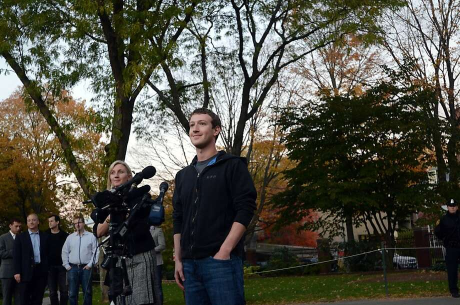 CAMBRIDGE, MA - NOVEMBER 7:  Facebook founder Mark Zuckerberg speaks to reporters at Harvard University November 7, 2011 in Cambridge, Massachusetts.  Zuckerberg visited Massachusetts Institute of Technology and Harvard to recruit students for jobs and internships with the social networking site. (Photo by Darren McCollester/Getty Images) Photo: Darren McCollester, Getty Images