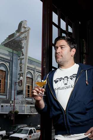 Bryan Ranere showcases his cocktail recipe in the Mission District in San Francisco, Calif. on Thursday Nov. 3, 2011. Photo: Tim Maloney, The Chronicle