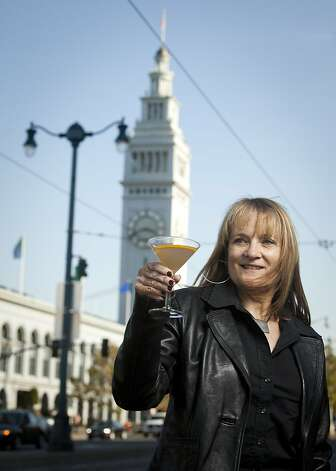 Phyllis Chiosso Liu who created a cocktail that reflects the Embarcadero is seen on Friday, Oct. 28, 2011 in San Francisco, Calif.  Ran on: 11-06-2011 Phyllis Chiosso Liu's Embarcadero cocktail, above, features gin, grapefruit juice, a little creme de violette and a curl of orange peel. Photo: Tim Maloney, The Chronicle
