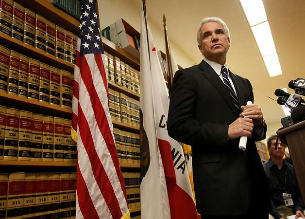 District Attorney George Gascon listened to a reporters question about his tenure as chief of police. San Francisco District Attorney George Gascon announced Wednesday March 9, 2011 that 57 cases, many involving the Southern Station undercover unit, would be dismissed. Ran on: 03-12-2011 District Attorney George Gascón was chief of the San Francisco Police Department when some questionable raids took place.  Ran on: 05-23-2011 George Gascón Photo: Brant Ward, The Chronicle