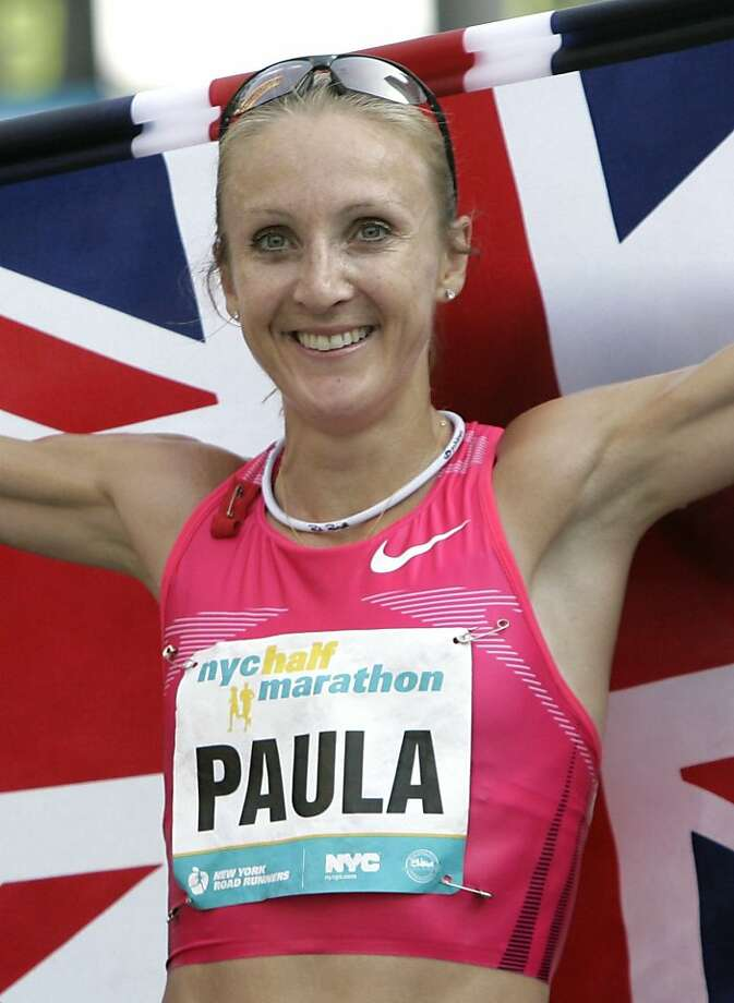 FILE - In this Aug. 16, 2009 file picture, Britain's Paula Radcliffe poses for a picture after winning the New York City Half Marathon in New York. Radcliffe hears plenty of unsolicited advice as she trains for her home country's Olympics. Coming off minor foot surgery, Radcliffe is working to get back into shape. (AP Photo/Seth Wenig, File)  Ran on: 11-10-2011 Photo caption Dummy text goes here. Dummy text goes here. Dummy text goes here. Dummy text goes here. Dummy text goes here. Dummy text goes here. Dummy text goes here. Dummy text goes here.###Photo: names10_PHrad1250294400AP###Live Caption:FILE - In this Aug. 16, 2009 file picture, Britain's Paula Radcliffe poses for a picture after winning the New York City Half Marathon in New York. Radcliffe hears plenty of unsolicited advice as she trains for her home country's Olympics. Coming off minor foot surgery, Radcliffe is working to get back into shape.###Caption History:FILE - In this Aug. 16, 2009 file picture, Britain's Paula Radcliffe poses for a picture after winning the New York City Half Marathon in New York. Radcliffe hears plenty of unsolicited advice as she trains for her home country's Olympics. Coming off minor foot surgery, Radcliffe is working to get back into shape. (AP Photo-Seth Wenig, File)###Notes:Paula Radcliffe###Special Instructions:AUG. 16, 2009 FILE PICTURE Ran on: 11-10-2011 Photo caption Dummy text goes here. Dummy text goes here. Dummy text goes here. Dummy text goes here. Dummy text goes here. Dummy text goes here. Dummy text goes here. Dummy text goes here.###Photo: names10_PHrad1250294400AP###Live Caption:FILE - In this Aug. 16, 2009 file picture, Britain's Paula Radcliffe poses for a picture after winning the New York City Half Marathon in New York. Radcliffe hears plenty of unsolicited advice as she trains for her home country's Olympics. C Photo: Seth Wenig, AP