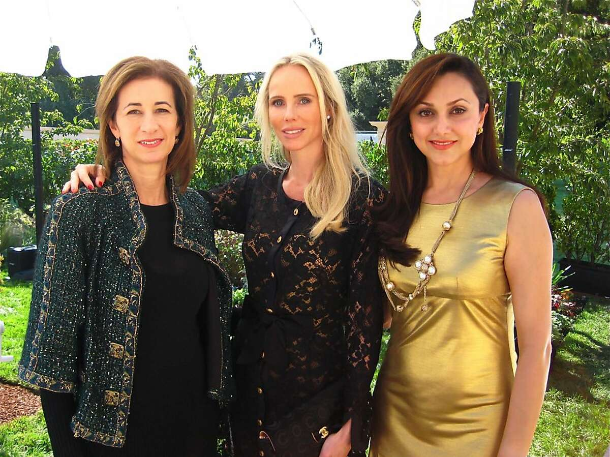 Chanel VP Erica Kasel (left) with fashion show co-hosts Vanessa Getty and Bita Daryabari. Oct 2011. By Catherine Bigelow.