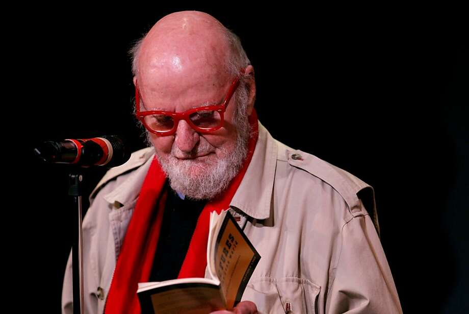 Legendary poets Lawrence Ferlinghetti Legendary reads his  poetry to a sold out crowd, Monday November 8, 2011 at the Club Fugazi in San Francisco, Calif. Photo: Lacy Atkins, The Chronicle