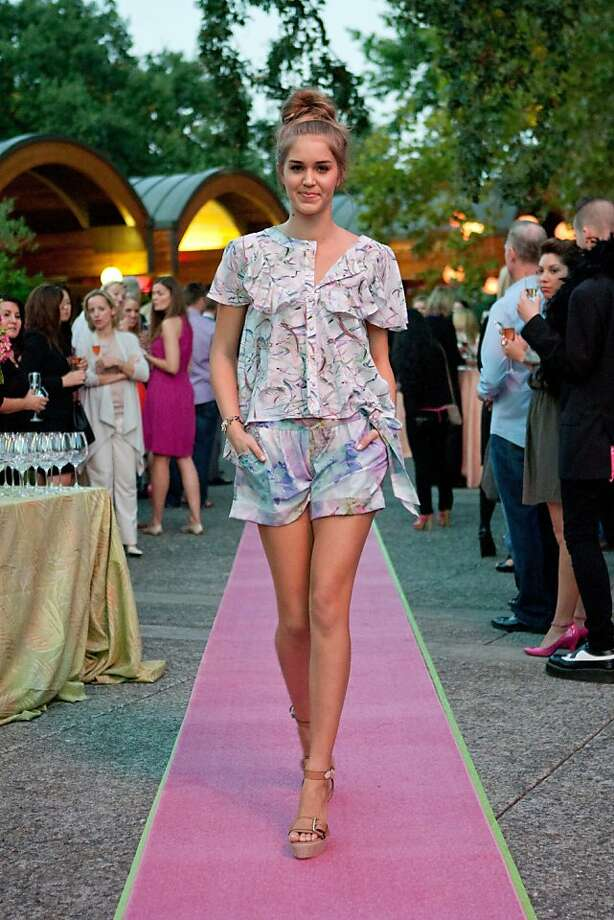 The first preview of Whitney Eve 2012 Spring Collection was shown at the Domaine Chandon winery to raise money for the National Breast Cancer Foundation on October 13, 2011. Photo: Drew Altizer Photography