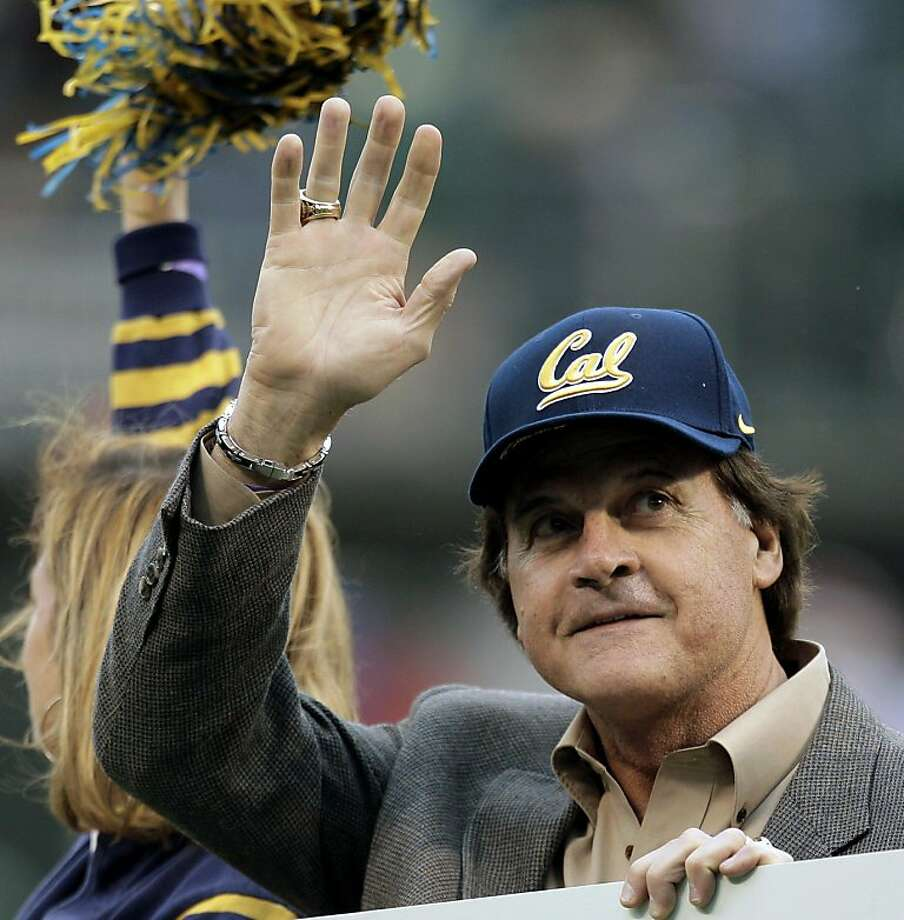 Former St. Louis Cardinals baseball manager Tony La Russa waves to fans during an NCAA college football game between Washington State and California, Saturday, Nov. 5, 2011, in San Francisco. (AP Photo/Ben Margot)  Ran on: 11-06-2011 Just-retired Cardinals manager Tony La Russa waves to fans at the game. Photo: Ben Margot, AP