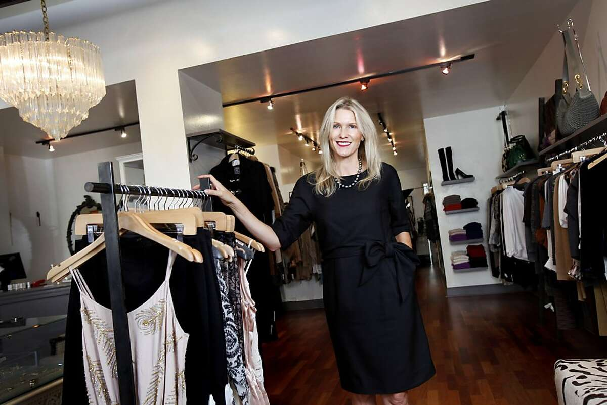 Heidi Sabelhaus Myers, owner of HeidiSays, is celebrating the 10-year anniversary of her first boutique on Fillmore St. in San Francisco, Calif., Wednesday, October 12, 2011.