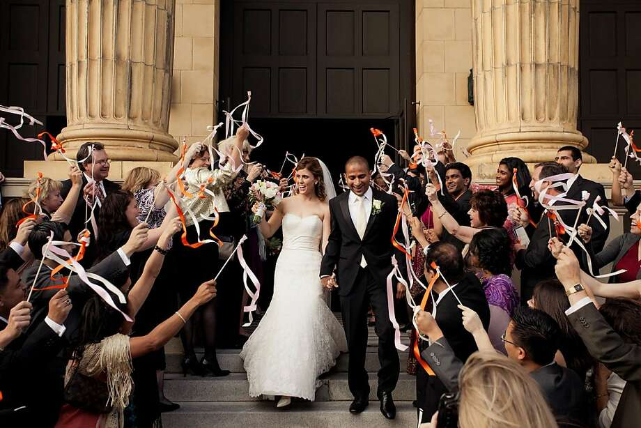 Jessica Nunes and Sam Wijesekera were married at St. Ignatius Church on October 15, 2011. Photo: Stephanie Pool Photography