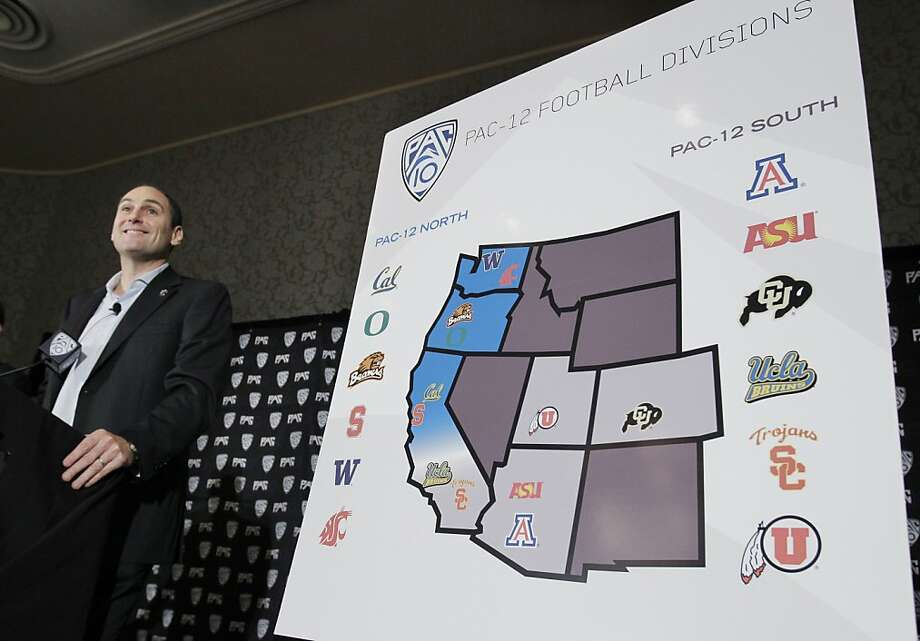 Pac-10 Commissioner Larry Scott announces the splitting of NCAA college football divisions during a news conference in San Francisco, Thursday, Oct. 21, 2010. Colorado and Utah recently accepted invitations to join the Pac-10 in the conference's first expansion since 1978, necessitating many changes for when the league becomes a 12-team conference next July 1. (AP Photo/Paul Sakuma)  Ran on: 10-22-2010 Photo caption Dummy text goes here. Dummy text goes here. Dummy text goes here. Dummy text goes here. Dummy text goes here. Dummy text goes here. Dummy text goes here. Dummy text goes here.###Photo: sportsindex22_PH_pac101287532800AP###Live Caption:Pac-10 Commissioner Larry Scott announces the splitting of NCAA college football divisions during a news conference in San Francisco, Thursday, Oct. 21, 2010. Colorado and Utah recently accepted invitations to join the Pac-10 in the conference's first expansion since 1978, necessitating many changes for when the league becomes a 12-team conference next July 1.###Caption History:Pac-10 Commissioner Larry Scott announces the splitting of NCAA college football divisions during a news conference in San Francisco, Thursday, Oct. 21, 2010. Colorado and Utah recently accepted invitations to join the Pac-10 in the conference's first expansion since 1978, necessitating many changes for when the league becomes a 12-team conference next July 1. (AP Photo-Paul Sakuma)###Notes:Larry Scott###Special Instructions: Photo: Paul Sakuma, AP