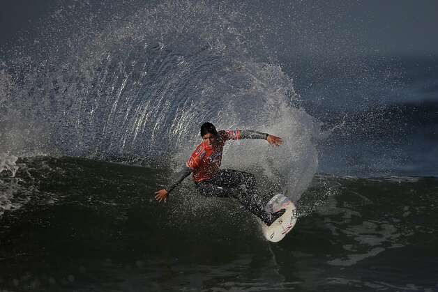 Gabriel Medina of Brazil surfs during Round 5 of the Rip Curl Pro Search surfing competition at Ocean Beach on Monday, November 7, 2011 in San Francisco, Calif.  Medina won the Rip Curl Pro Search 2011 competition. Photo: Lea Suzuki, The Chronicle