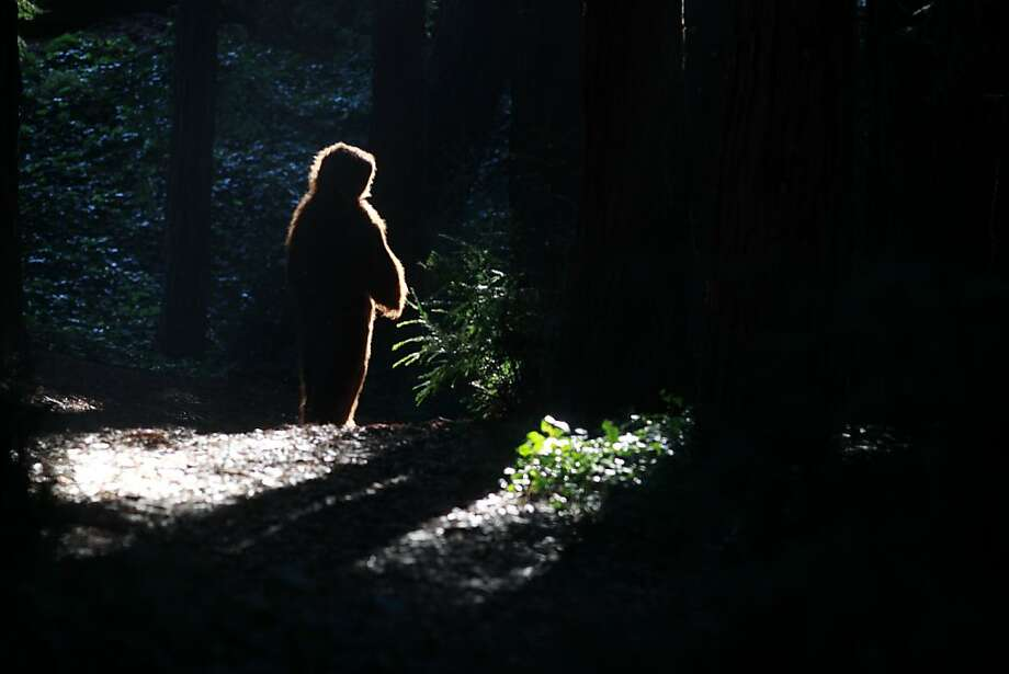 Leslie Hensley brings new meaning to the concept of bigfoot in Golden Gate Park. Photo: Mike Kepka, The Chronicle