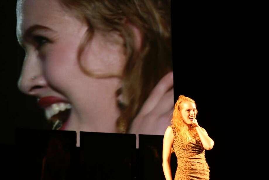 """Emma McNairy as Zerbinetta in Richard Strauss' """"Ariadne auf Naxos"""" at West Edge Opera Photo: Jamie Buschbaum"""