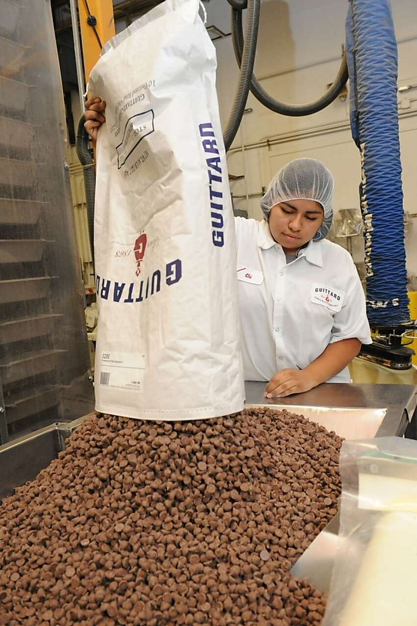 Noemi Chi is at work at Guittard Chocolate on Monday, October 10, 2011. The company is a family-run chocolate maker that has been around for more than a century.