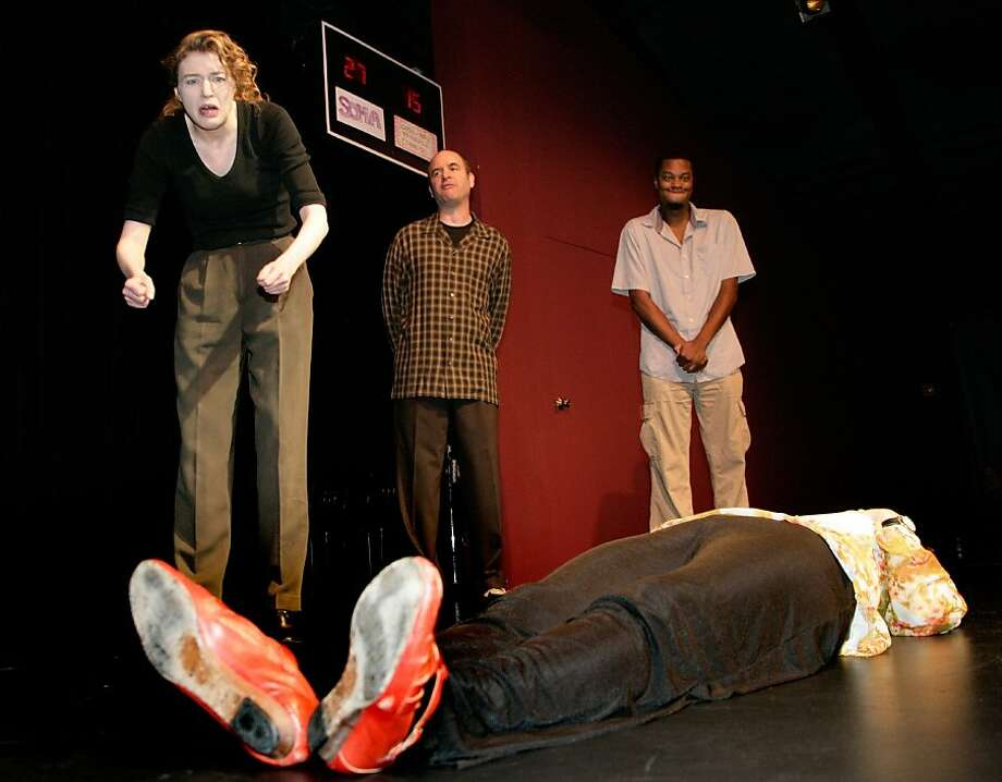 "BATS Improv players improvise ""Greek Tragedy"" Photo: Dan Heller"