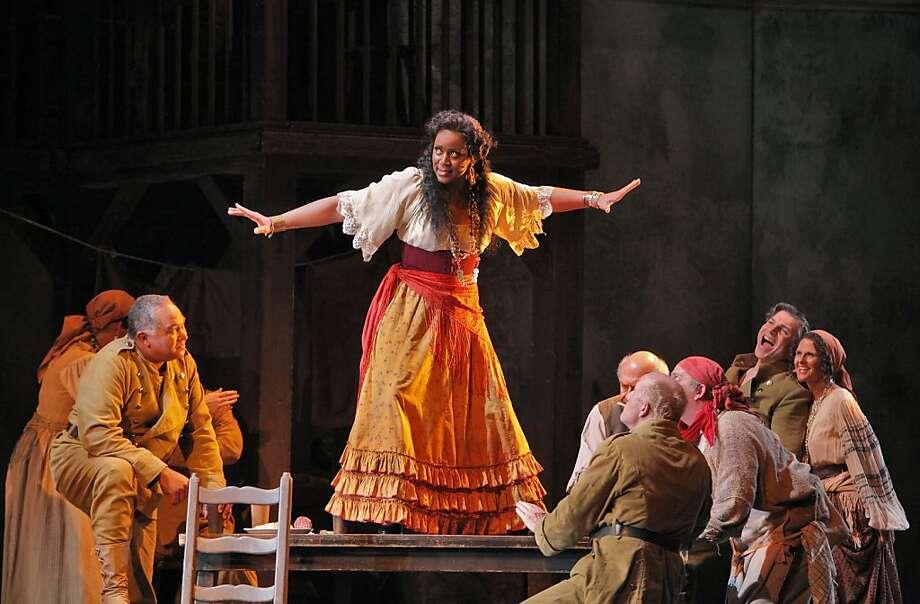 "Kendall Gladen as Carmen in Bizet's ""Carmen"" at San Francisco Opera Photo: Cory Weaver"