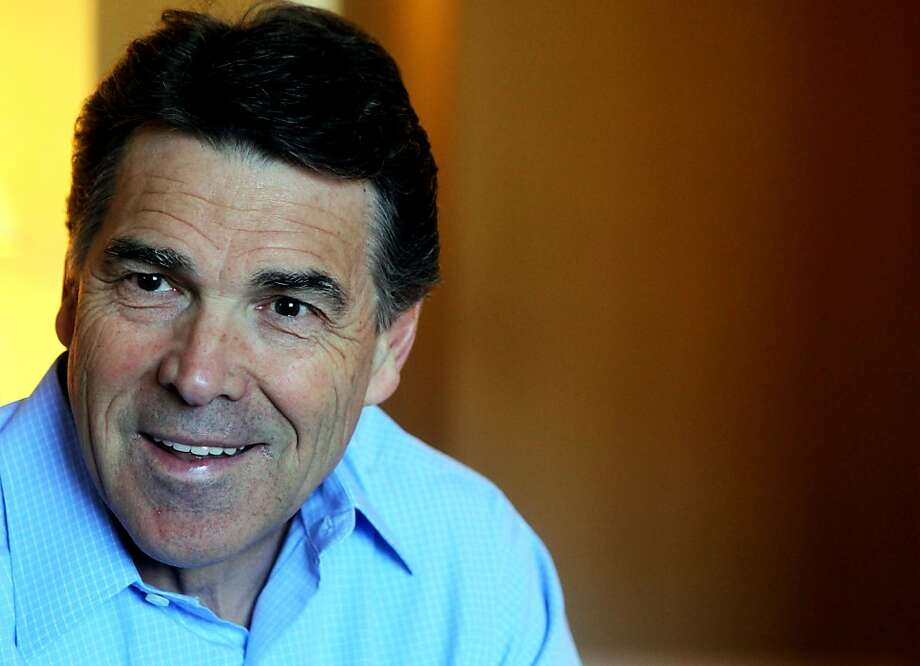 Rick Perry, Texas Gov and presidential hopeful talks about his campaign during a fundraising trip to San Jose California Wednesday, November 1, 2011 2, 2011. Photo: Lance Iversen, The Chronicle