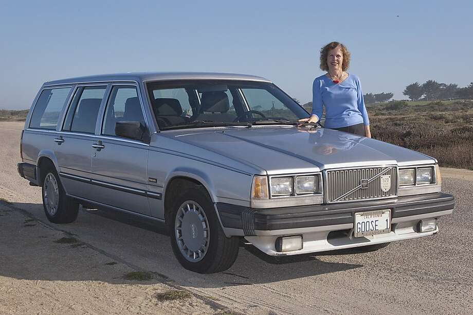 Photos of Constance Kean and her 300,000+ mile 1989 Volvo 740GL Wagon photographed on 17 Mile Drive on the Pacific Grove/Pebble Beach beach on October 14, 2011. Photo: Stephen Finerty