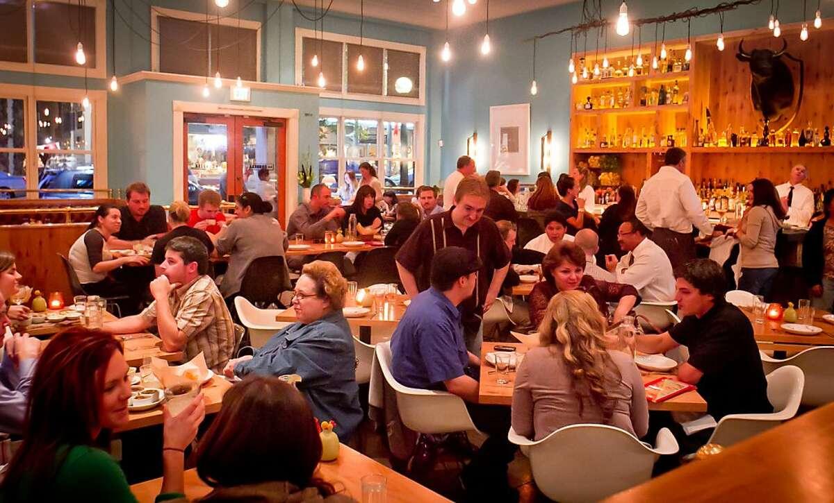 Diners enjoy dinner at La Condesa Restaurant in St. Helena, Calif., on Thursday, October 27, 2011.