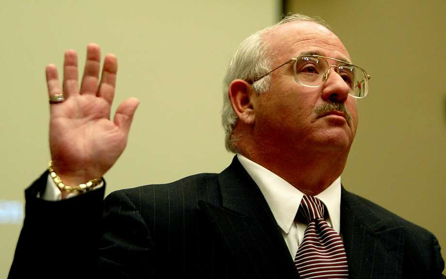 Gregory Friedman, inspector general of the Department of Energy, is sworn in before testifying before the House Committee on Energy and Commerce's Subcommittee on Oversight and Investigations review of the University of California's management contract for Los Alamos National Laboratory on Capitol Hill in Washington Thursday, May 1, 2003. (AP Photo/Charles Dharapak) Ran on: 11-03-2011 Gregory Friedman, inspector general of the Energy Department, reviewed the stimulus program. Photo: Charles Dharapak, ASSOCIATED PRESS