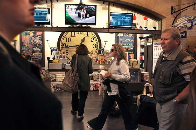 The ferry ticket counter at the Ferry building in San Francisco, Calif., on Monday, November 1, 2011. Photo: Liz Hafalia, The Chronicle