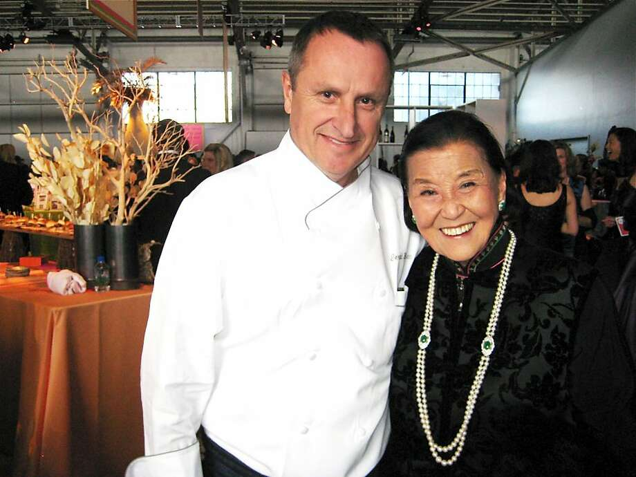 Chefs Gerald Hirigoyen (left) and Cecilia Chiang, who co-founded the Stars Chefs and Vintners event. May 2011. By Catherine Bigelow.     Ran on: 05-29-2011 Chefs Gerald Hirigoyen and Cecilia Chiang, co-founders of the Star Chefs and Vintners Gala. Ran on: 05-29-2011 Chefs Gerald Hirigoyen and Cecilia Chiang, co-founders of the Star Chefs and Vintners Gala. Photo: Catherine Bigelow, Special To The Chronicle