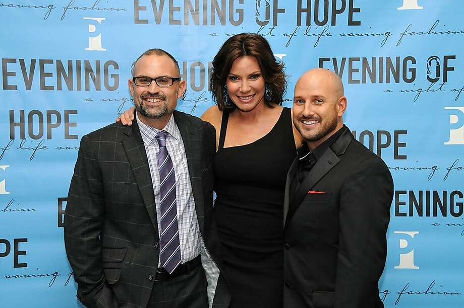 Director of Development for Project Inform Henry Lucero (left) with the Countess LuAnn de Lesseps and Marko Krosnjar, development manager for Project Inform at the Oct. 26 gala. Photo: John W. Diehl
