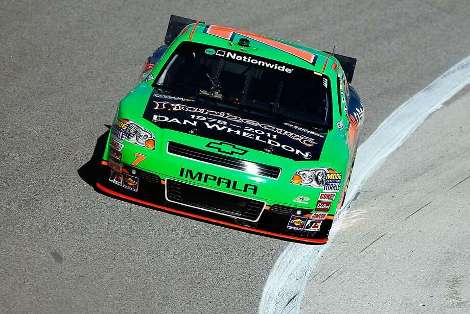 FORT WORTH, TX - NOVEMBER 04:  Danica Patrick, driver of the #7 GoDaddy.com /DanWheldonMemorial.com Chevrolet, practices for the NASCAR Nationwide Series O'Reilly Auto Parts Challenge at Texas Motor Speedway on November 4, 2011 in Fort Worth, Texas.  (Photo by Jonathan Ferrey/Getty Images) Photo: Jonathan Ferrey, Getty Images