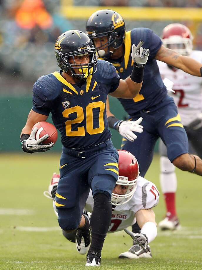 SAN FRANCISCO, CA - NOVEMBER 05:  Isi Sofele #20 of the California Golden Bears runs with the ball against the Washington State Cougars at AT&T Park on November 5, 2011 in San Francisco, California.  (Photo by Ezra Shaw/Getty Images) Photo: Ezra Shaw, Getty Images