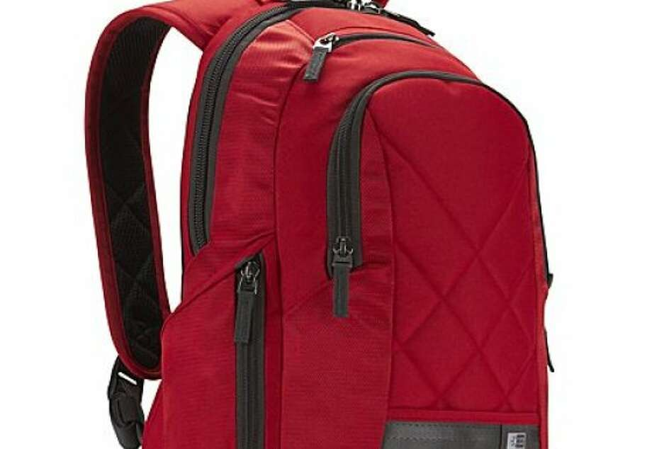 The 14-inch Laptop Backpack by Case Logic keeps a slim profile even when stuffed with gear. Photo: Case Logic