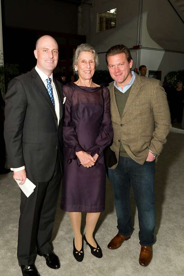 Fall Antiques Show Commitee member K.C. Lynch (at left) with his mom, Show Chairwoman Michele Goss and Honorary Chairman chef Tyler Florence. Oct 2011. By Drew Altizer. Photo: Drew Altizer, Special To The Chronicle