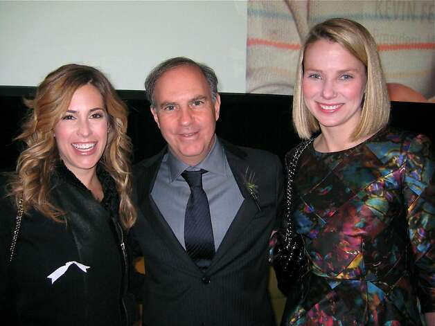 OneKingsLane.com co-founder Ali Pincus (at left) with Fortune Managing Editor Andrew Serwer and Google Exec Marissa Mayer. Oct. 2011. By Catherine Bigelow. Photo: Catherine Bigelow, Special To The Chronicle