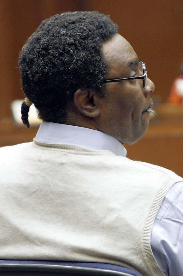 """FILE - This Oct. 24, 2011 file photo shows convicted murderer Michael Hughes, during opening statements of his murder trial in Los Angeles. Hughes, a convicted serial killer was found guilty of three more murders Thursday Nov.3, 2011 for strangling two prostitutes and a 15-year-old girl during the """"Southside Slayer"""" attacks that terrorized the city in the 1980s and 1990s. (AP Photo/Nick Ut, File) Photo: Nick Ut, AP"""