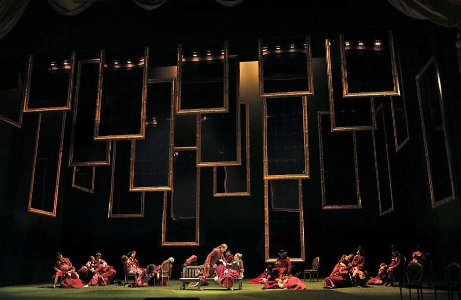 "Mirrors in the SF Opera production of Mozart's ""Don Giovanni"" Photo: Courtesy SF Operra"