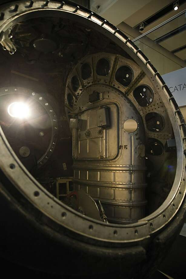 Vostok 3KA-2 space capsule is shown in this undated photo released to the press on March 16, 2011. The space capsule is on view at Sotheby's in New York where it will be auctioned on April 12. The spacecraft, which orbited the Earth as the final test before Soviet Union sent the first man into space, has a $2 million to $10 million presale estimate. Source: Sotheby's via Bloomberg EDITOR'S NOTE: NO SALES. EDITORIAL USE ONLY. Vostok 3KA-2 space capsule is shown in this undated photo released to the press on March 16, 2011. The space capsule is on view at Sotheby's in New York where it will be auctioned on April 12. The spacecraft, which orbited the Earth as the final test before Soviet Union sent the first man into space, has a $2 million to $10 million presale estimate. Source: Sotheby's via Bloomberg EDITOR'S NOTE: NO SALES. EDITORIAL USE ONLY. Photo: Sotheby's, Bloomberg News