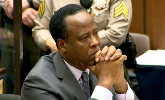 Dr. Conrad Murray listens to his November 2011 sentencing for the involuntary manslaughter of singer Michael Jackson. Judge Michael E. Pastor sentenced Murray to four years in county jail. He was released in November 2013.