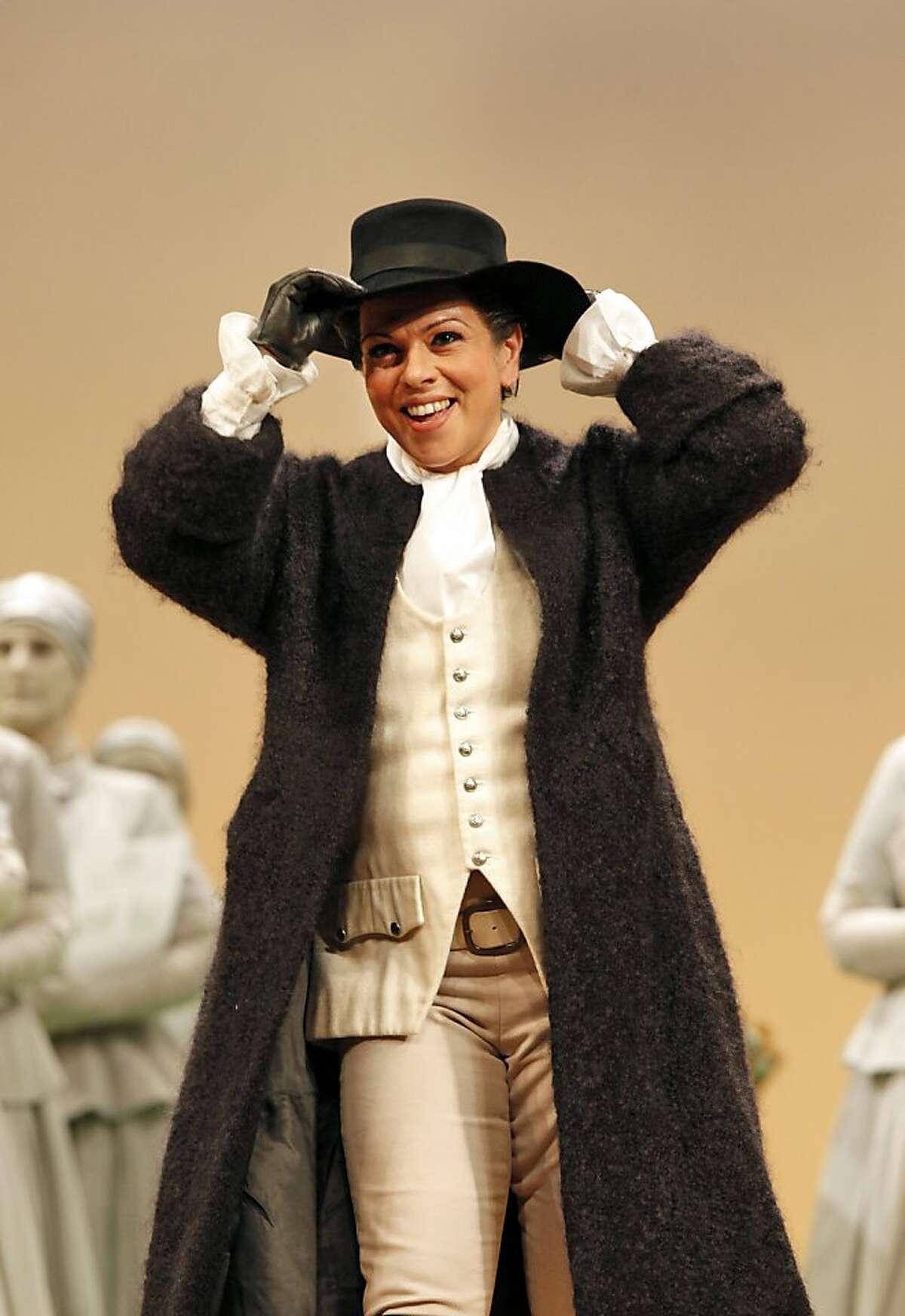Sonia Prina as Amastris in Handel's