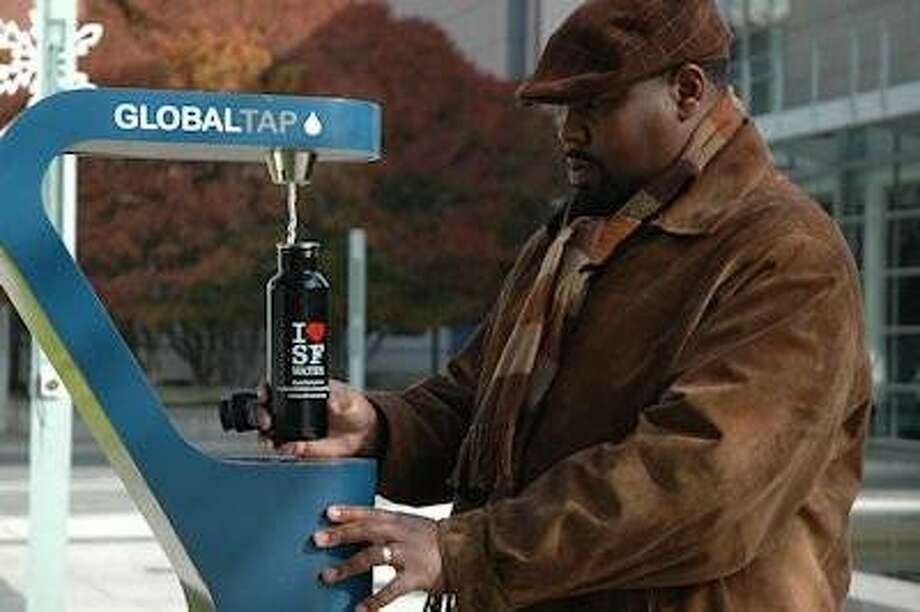 """San Francisco is replacing its old drinking fountains with these new """"tap water refilling stations."""" Photo: Courtesy Of The SF PUC"""