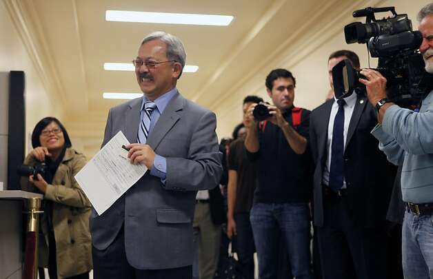 San Francisco mayor Ed Lee waits to vote early at City Hall in the municipal election Tuesday October 11, 2011. Photo: Lance Iversen, The Chronicle