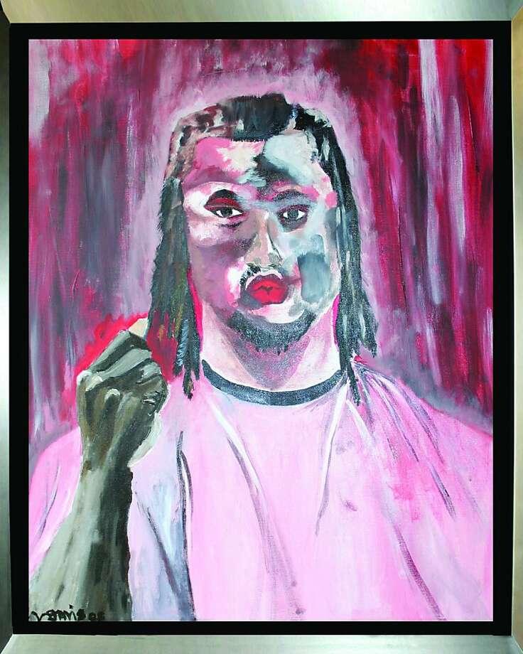 Self-portrait painted by Vernon Davis. Photo: Courtesy Vernon Davis