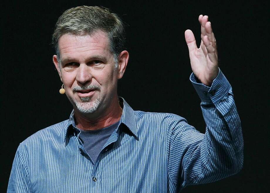 SAN FRANCISCO, CA - SEPTEMBER 22:  (FILE PHOTO) Netflix CEO Reed Hastings makes an appearance during a keynote address by Facebook CEO Mark Zuckerberg at the Facebook f8 conference on September 22, 2011 in San Francisco, California. Netflix has announced that it has cancelled plans to launch a new company called Qwikster and will keep all of its services under the Netflix brand. (Photo by Justin Sullivan/Getty Images)  Ran on: 10-11-2011 CEO Reed Hastings announced the demise of Qwikster on Netflix's blog. Ran on: 10-11-2011 CEO Reed Hastings announced the demise of Qwikster on Netflix's blog. Photo: Justin Sullivan, Getty Images