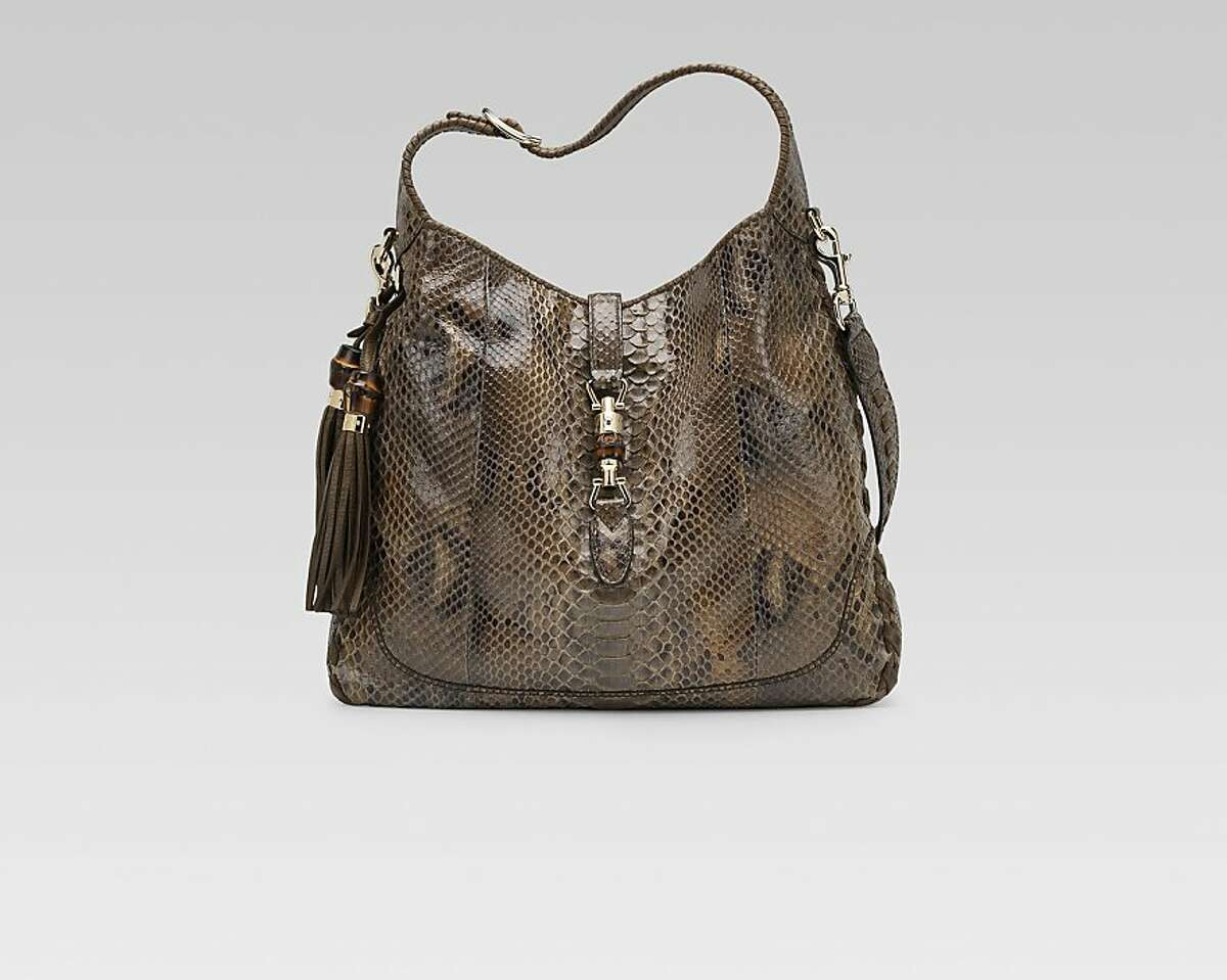Gucci celebrates 90 years with an event that showcases its artisans Nov. 1-3. Pictured is the New Jackie in python.