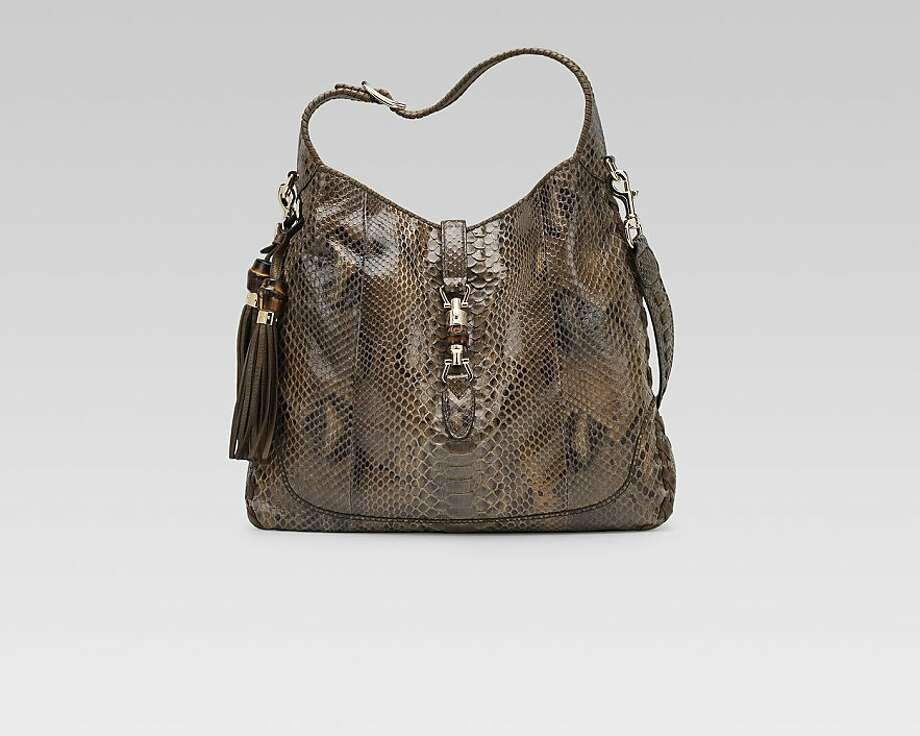 Gucci celebrates 90 years with an event that showcases its artisans Nov. 1-3.  Pictured is the New Jackie in python. Photo: Gucci
