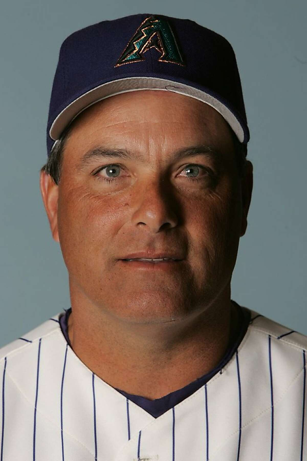 This is a 2006 file photo of Mike Aldrete of the Arizona Diamondbacks baseball team. (AP Photo/Charles Rex Arbogast)
