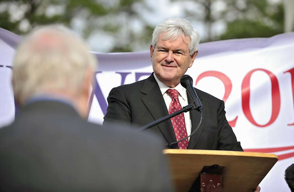 Republican presidential candidate, former House Speaker Newt Gingrich listens to a question during town hall rally, Tuesday, Nov. 29, 2011 in Bluffton, S.C. (AP Photo/Stephen Morton) Ran on: 11-30-2011 Newt Gingrich