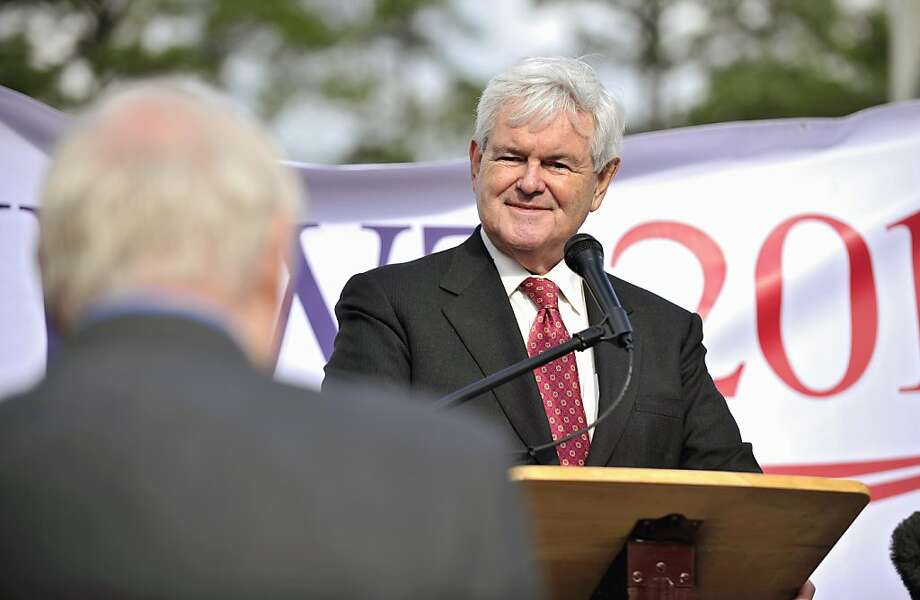 Republican presidential candidate, former House Speaker Newt Gingrich listens to a question during town hall rally, Tuesday, Nov. 29, 2011 in Bluffton, S.C.  (AP Photo/Stephen Morton) Ran on: 11-30-2011 Newt Gingrich Photo: Stephen Morton, AP