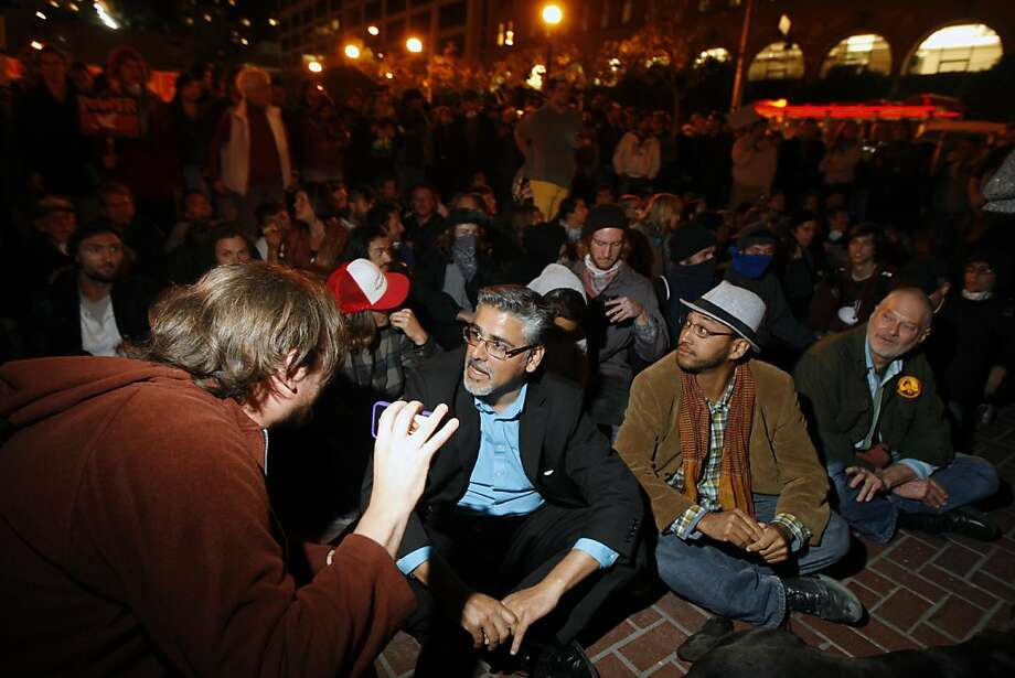 Mayoral candidate John Avalos attends the Occupy SF protest in a show of solidarity on Wednesday night in San Francisco, Calif. Oct. 26, 2011. Photo: Tim Maloney, The Chronicle