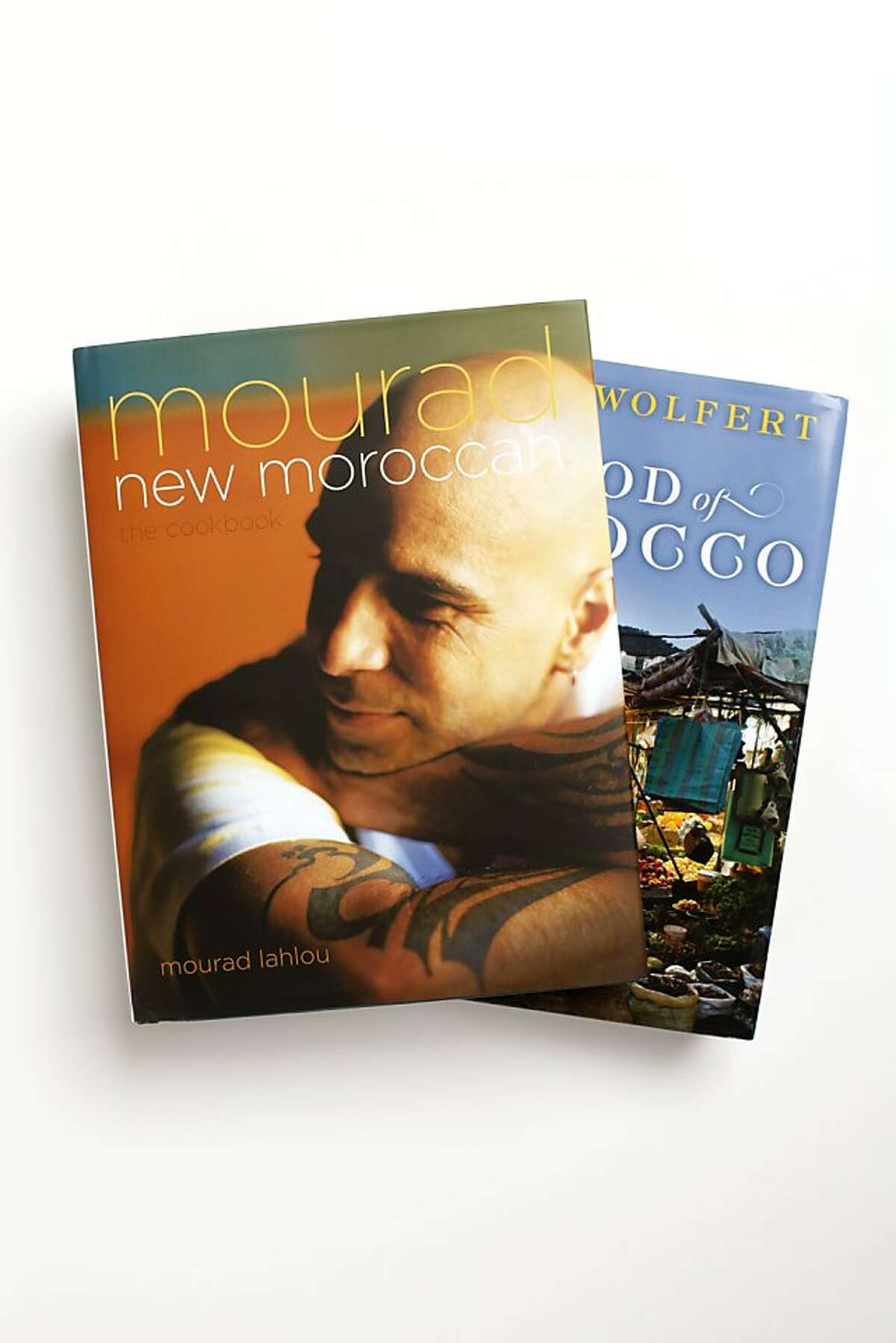 """""""Mourad: New Moraccan"""" and """"The Food of Morocco"""" by Paula Wolfert as seen in San Francisco, California, on Thursday, October 6, 2011."""
