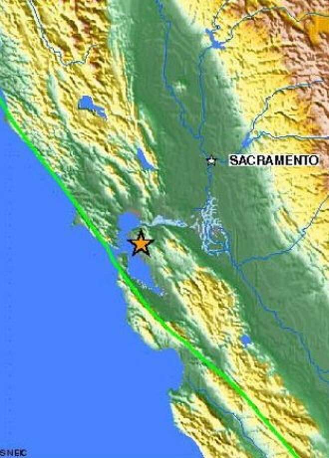 A 3.6 magnitude earthquake, centered in Berkeley, struck at 5:36 AM. Photo: Usgs