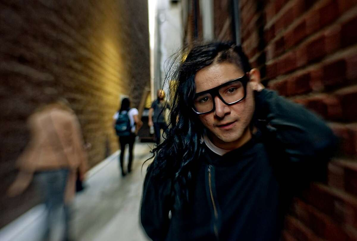 Electronic music artist Skrillex spends nearly all of his waking hours making music piecemeal on his computer. He adds a dab here and bit there and is at work on more than a hundred songs.